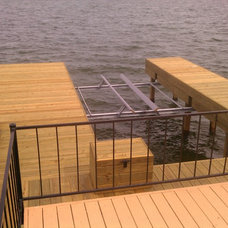 Traditional Patio by Dockside Boat Lifts