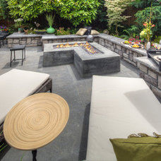 Modern Patio by Paradise Restored Landscaping & Exterior Design
