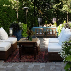 Eclectic Patio by Donna DuFresne Interior Design
