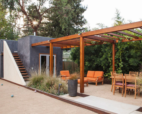 Inspiration For A Contemporary Decomposed Granite Patio Remodel In San  Francisco With A Pergola