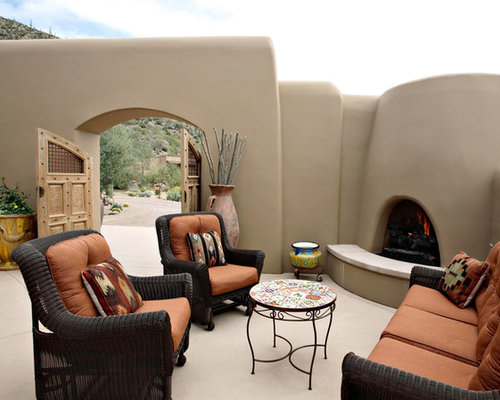 Painted Adobe Fireplace Home Design Ideas Pictures Remodel And Decor