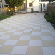 Modern Patio by Illyria Construction Services