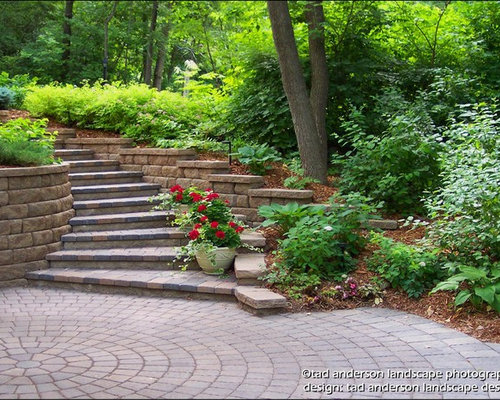 Inspiration For A Contemporary Front Yard Concrete Paver Patio Remodel In  Minneapolis
