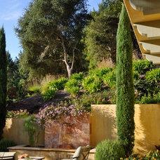 Mediterranean Patio by Gast Architects