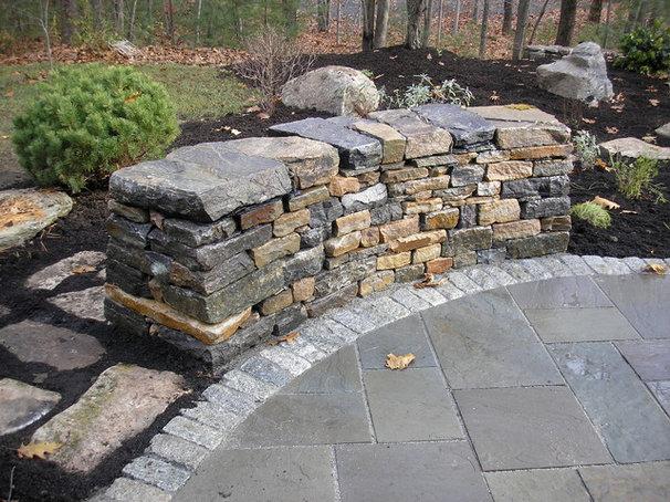 Traditional Patio by Green Island Stonework, LLC