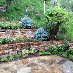 Drystack retaining wall garden in Snowmass -