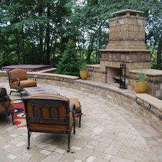 Traditional Patio by Michael K Akin, Falling Water Creations