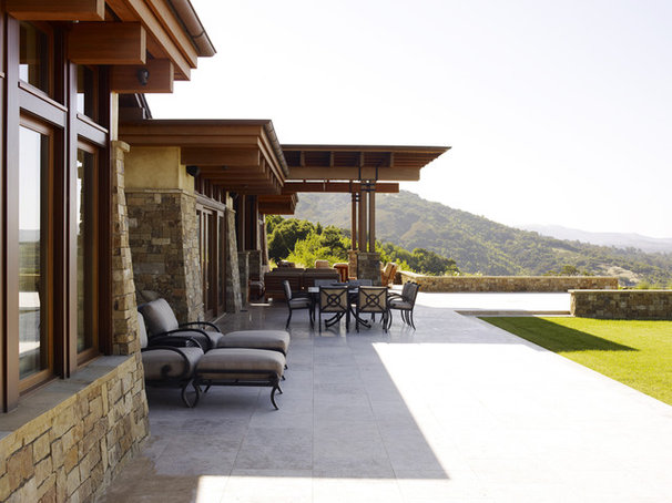 Contemporary Patio by Noel Cross+Architects