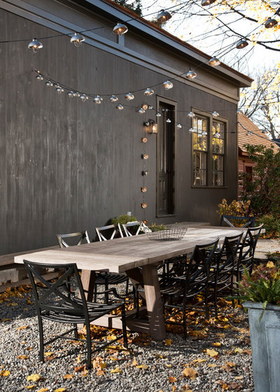 Transitional Patio by The Art of Building