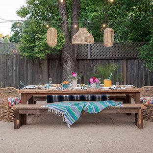 Ispirazione per un patio o portico stile marino con graniglia di granito e nessuna copertura