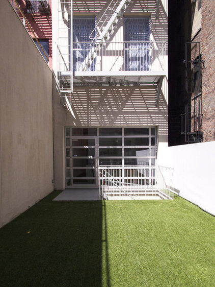 contemporary patio East Village Brownstone