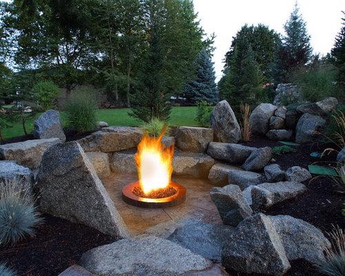 Rock Fire Pit Houzz