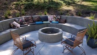 edna valley concrete bench
