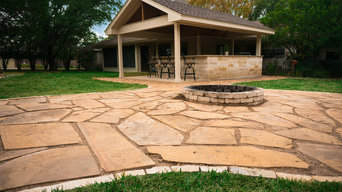 Edwards Outdoor Oasis - Outdoor Kitchen, Flagstone pavers and fire pit