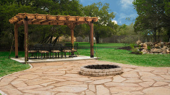 Edwards Outdoor Oasis - Pergola, Flagstone pavers, landscaping, & fire pit