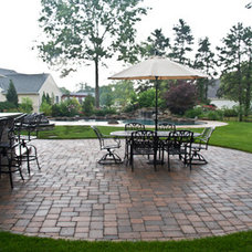 Traditional Patio by Ledden Palimeno Landscape Co.