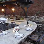 Outdoor Kitchen Rustic Patio Dallas By Wright Built