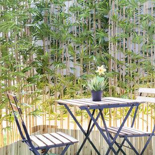 Foto de patio escandinavo, pequeño, sin cubierta, en patio, con jardín de macetas