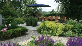 Elegant family garden, Sweden