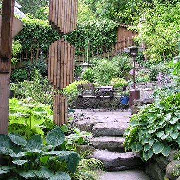 Elegant Northwest Natural Hillside Garden