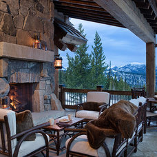 Traditional Patio by Teton Heritage Builders