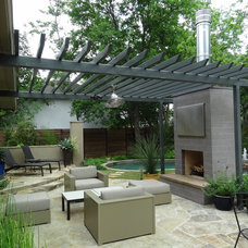 Contemporary Patio by Ellen Grasso & Sons, LLC