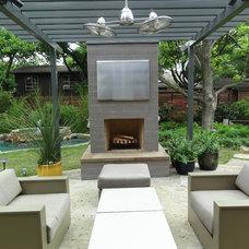 Contemporary Patio by Ellen Grasso & Sons, LLC