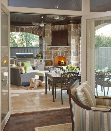 Transitional Patio by Ellen Grasso & Sons, LLC