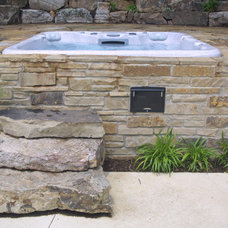 Traditional Patio by Liquid Assets Pools, Inc.