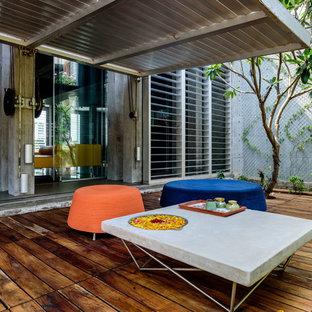 Exemple d'une terrasse moderne.