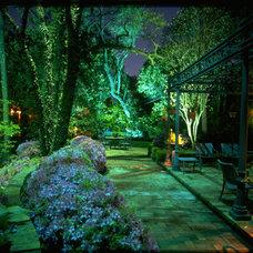 Traditional Patio by Illuminations Lighting Design