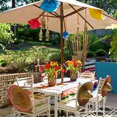 Traditional Patio by Tobi Fairley Interior Design