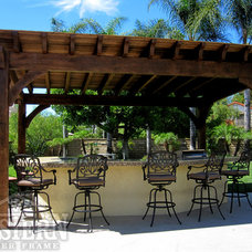 Contemporary Patio by Western Timber Frame