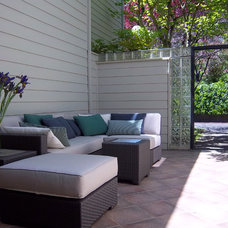 Eclectic Patio by MCM Design