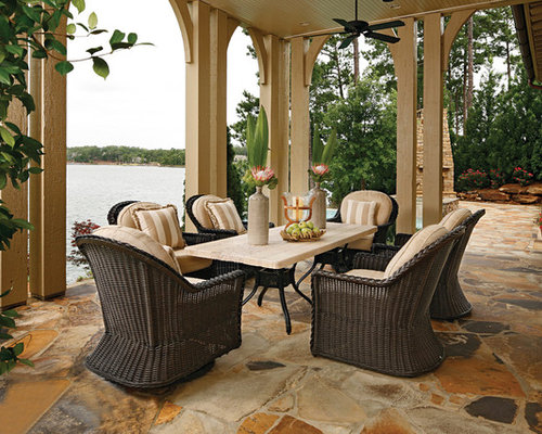 SaveEmail - Best Stone Patio Table Design Ideas & Remodel Pictures Houzz