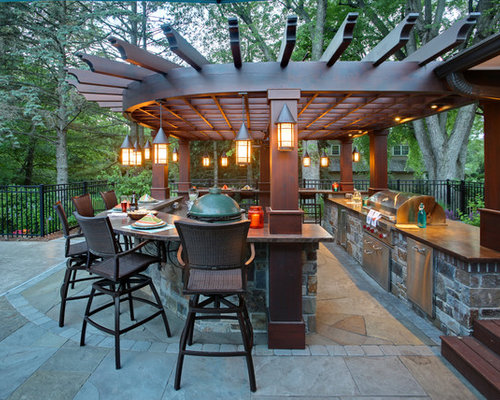 50 Transitional Outdoor Kitchen Design Ideas & Remodeling Photos ...