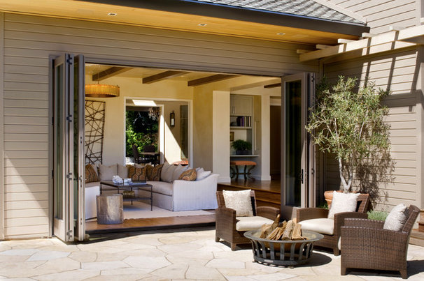 Transitional Patio by Upscale Construction