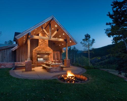 Houzz | Outdoor Fire Pit On Unlevel Ground Design Ideas ... on Unlevel Backyard Ideas id=75568