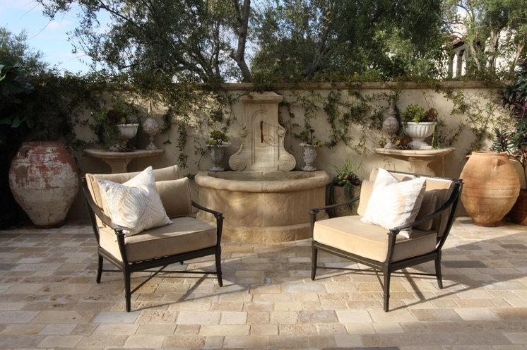Mediterranean Patio by Bliss Design Firm