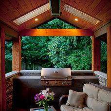 Contemporary Patio by Kenorah Design + Build Ltd.