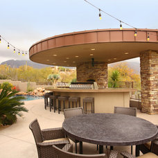 Contemporary Patio by MCCALEB CONSTRUCTION INC