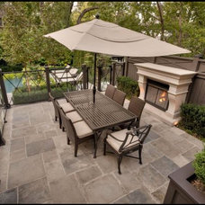 Traditional Patio by Parsiena Design Mantels & Architectural Elements