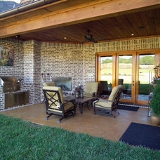 Traditional Patio by Michael Garabedian