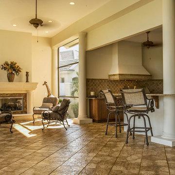 Exterior Renovation Bonita Springs FL Bonita Bay - Outdoor Kitchen/Sitting Area