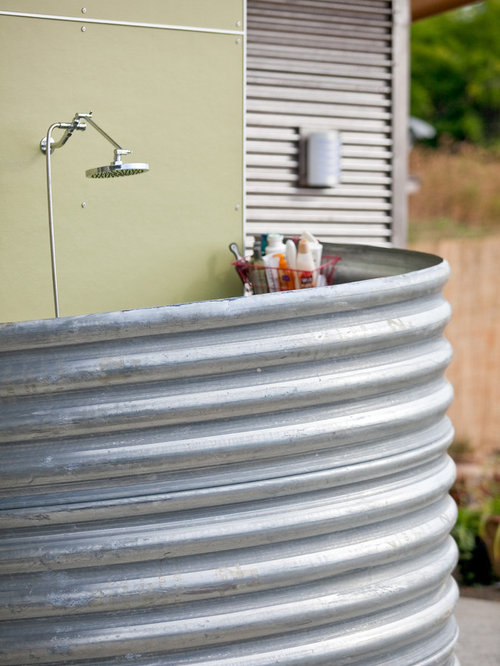 Corrugated Metal Shower Home Design Ideas Pictures