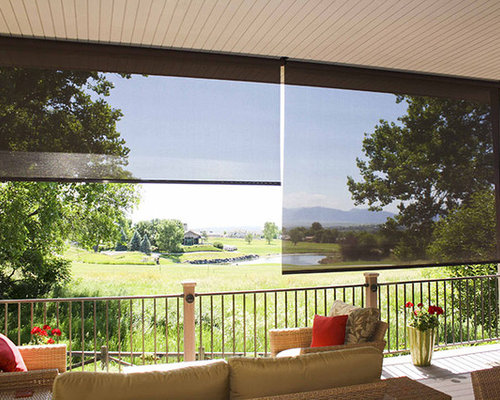 SaveEmail - Diy Patio Roller Shades Design Ideas & Remodel Pictures Houzz