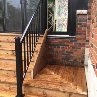 Idee per un piccolo patio o portico minimal dietro casa