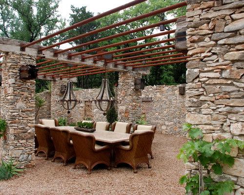 photos et id es d co de terrasses montagne avec du gravier. Black Bedroom Furniture Sets. Home Design Ideas