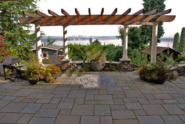 Transitional Patio by Exteriorscapes llc