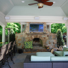 Traditional Patio by Land & Water Design